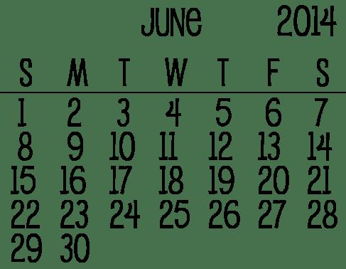 June-2014-Calendar-1