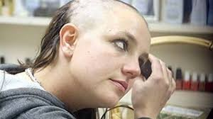 girl shaving head on the run